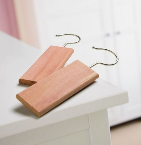 2 Hanging Cedar Blocks - Hanging Block for clothes & moths